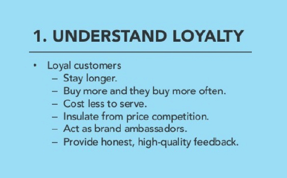Loyal Customers Spend More €