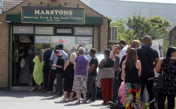 Queues for Chicken!