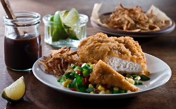 Endless Chicken Recipes – Spicy Chicken, Crispy Fried Onions & Sweetcorn Salad