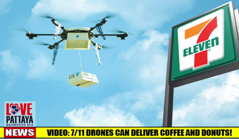 Drone Delivering Hot Food from Convenience Stores